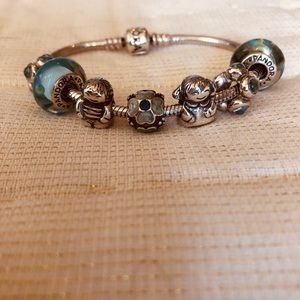 Pandora authentic bracelet and charms